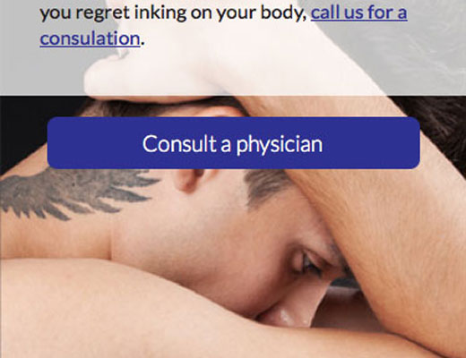 Physicians Laser Clinic Website detail image