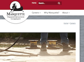 Marquette Transportation Website Details