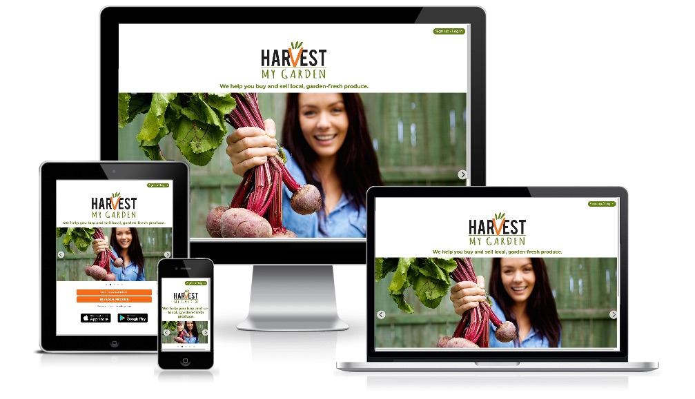 Harvest My Garden website on various devices