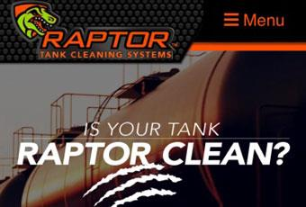 Raptor Tank Cleaning Website Details