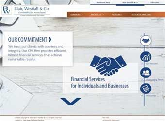 Blair Westfall CPA website detail images