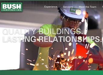 Bush Construction Website detail