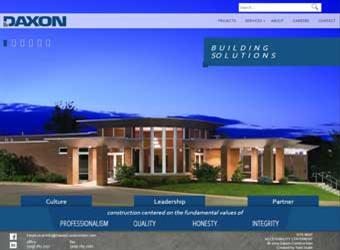 Daxon Construction website detail images
