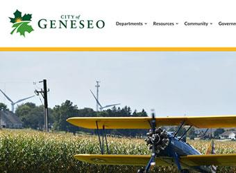 City of Geneseo website detail images