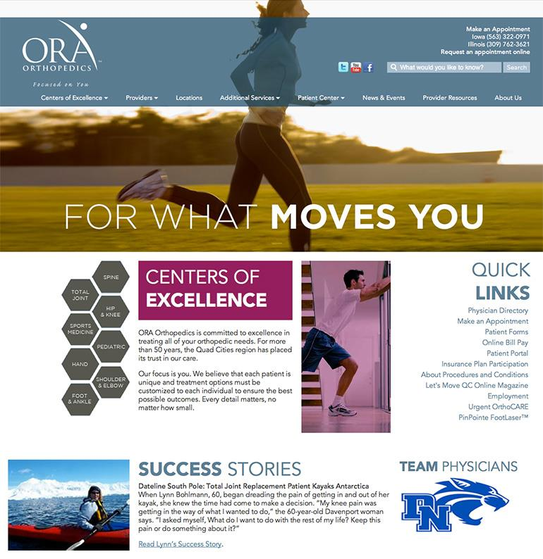 ORA Orthopedics Homepage