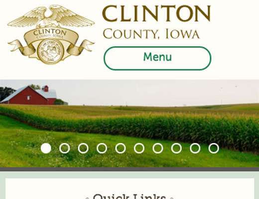 Clinton County website home page screenshot