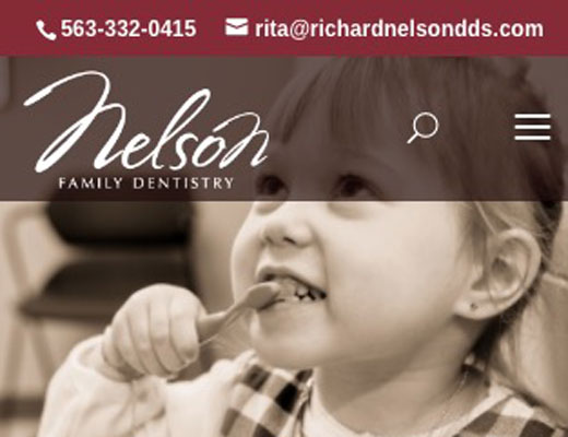 Nelson Dental website detail image