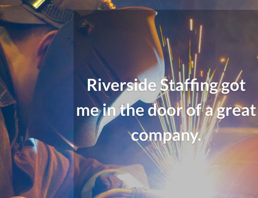 Riverside Staffing website detail image